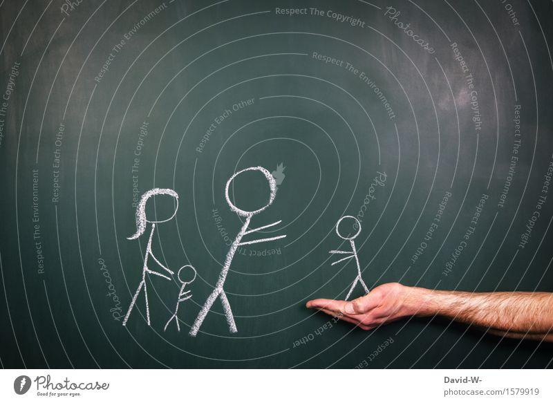Rückkehr Mensch Frau Kind Mann Hand Freude Mädchen Erwachsene Leben Liebe Gefühle Junge Familie & Verwandtschaft Glück Kunst Zusammensein