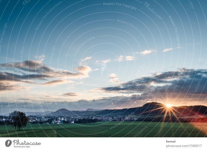 Sonnenaufgang Wellness Leben harmonisch Zufriedenheit Sinnesorgane ruhig Ferne Freiheit Umwelt Natur Landschaft Himmel Wolken Sonnenuntergang Sommer