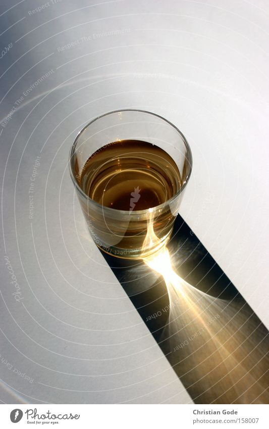 Lichtglas Sonne Glas Glas Kreis Getränk Gastronomie Dinge Alkohol Whiskey Lichtkegel