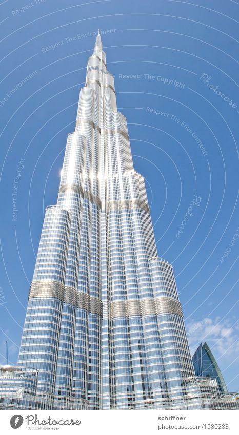 Big Babel Hauptstadt Stadtzentrum Haus Traumhaus Hochhaus Bauwerk Gebäude Architektur Sehenswürdigkeit Wahrzeichen groß hoch blau Dubai