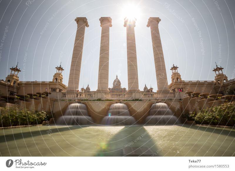Barcelona - Palast Ferien & Urlaub & Reisen Museum Spanien Stadt Hauptstadt Dom Burg oder Schloss Abenteuer Farbfoto Außenaufnahme Menschenleer Tag