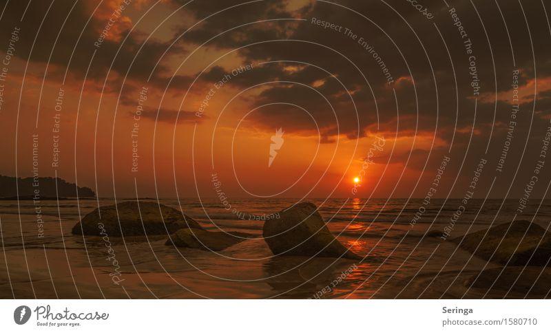 Der Himmel brennt Natur Ferien & Urlaub & Reisen Sommer Wasser Sonne Meer Erholung Landschaft ruhig Ferne Strand Frühling Küste Schwimmen & Baden Stein