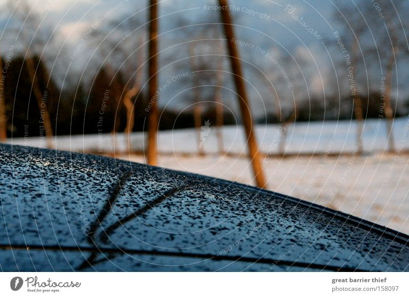 Spiegeltropfen Himmel Baum blau Winter Wolken Einsamkeit Schnee Traurigkeit PKW Regen Wassertropfen Elektrizität KFZ Dach
