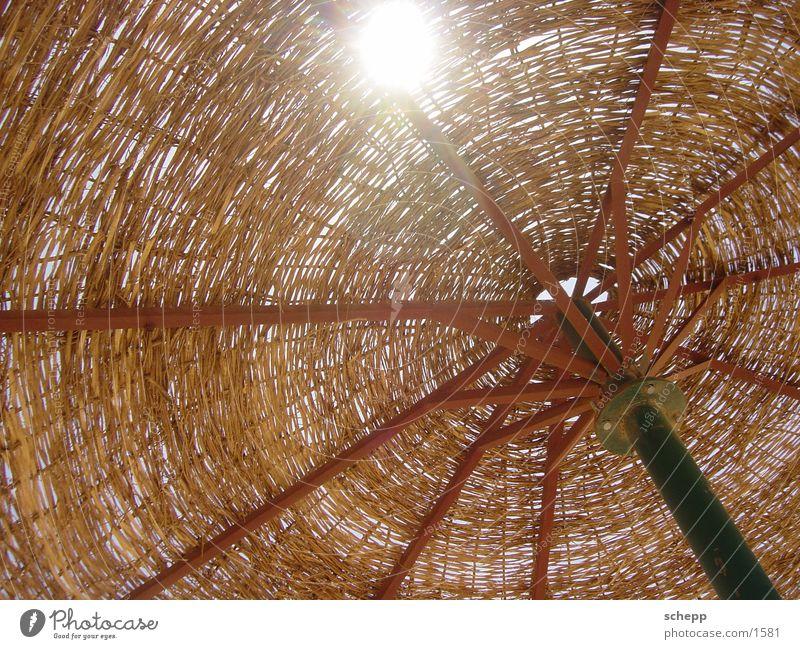 Sonnenschirm Sonne Meer Strand Ferien & Urlaub & Reisen Freizeit & Hobby Sonnenschirm Stroh Lichteinfall