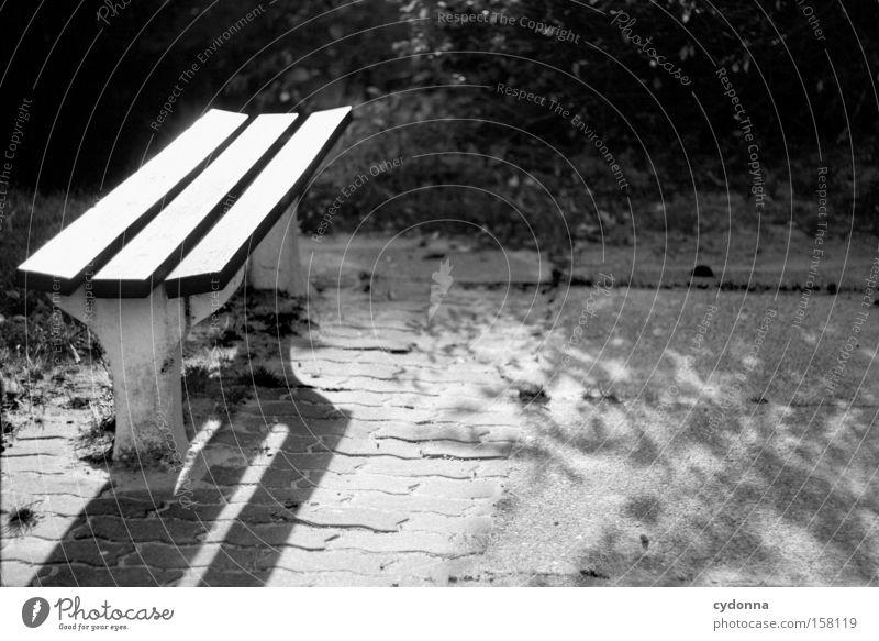 Pause machen Nostalgie Ostalgie Wohngebiet Licht Heimat Leben Sitzgelegenheit Bank Erholung ruhig Park Zeit Kommunizieren Dinge Garten