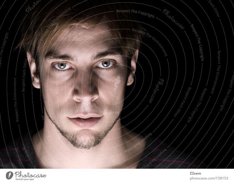 ich II Mensch Mann Natur Gesicht Porträt Kraft maskulin Selbstportrait Charakter