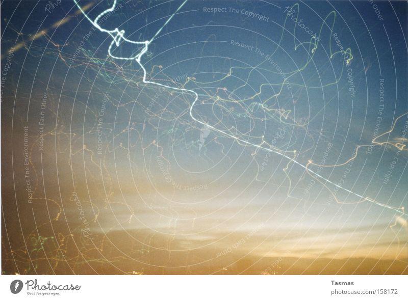 We Are All Made Of Stars Himmel dunkel Linie Kraft Elektrizität Blitze Wellenlinie