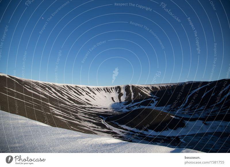 vulkan. Himmel Natur Ferien & Urlaub & Reisen blau Sonne Landschaft Einsamkeit Ferne Umwelt Schnee Freiheit Stein Tourismus Ausflug Schönes Wetter Abenteuer