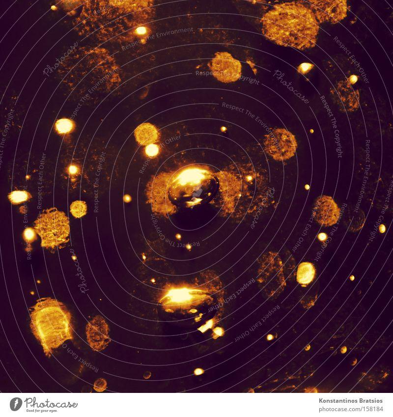 icebound Farbfoto Nahaufnahme Makroaufnahme Experiment Reflexion & Spiegelung Unschärfe schön Eis Frost Wärme glänzend kalt gold Farbe Gel Luftblase Blase