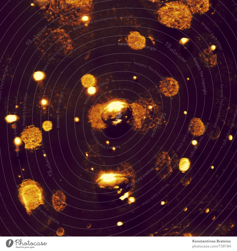 icebound schön Farbe kalt Wärme Eis glänzend Hintergrundbild gold Frost Blase Luftblase Briefumschlag Gel schimmern zähflüssig