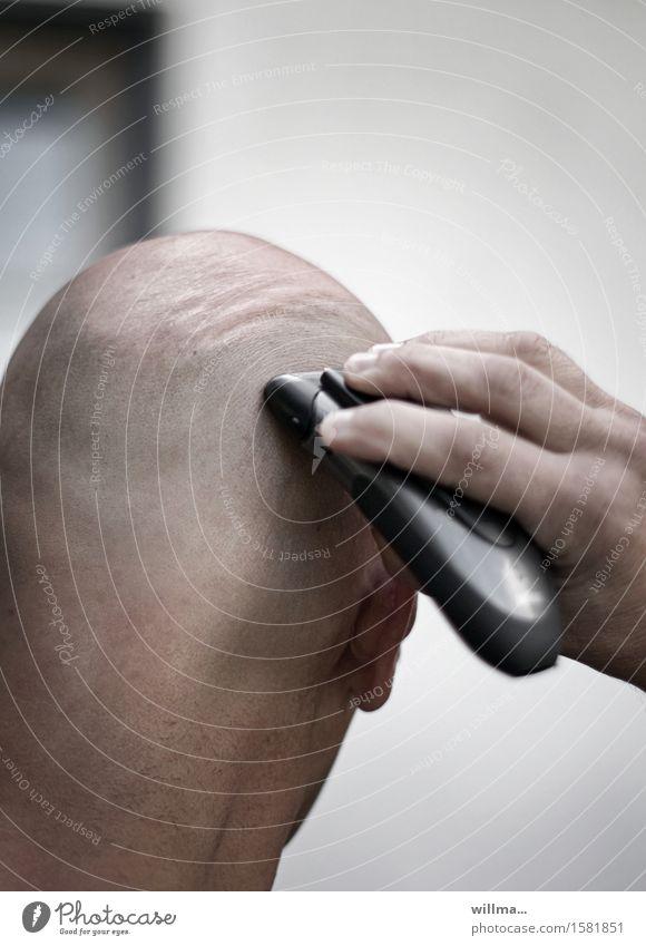 ritter kahlputz nackt Männlicher Akt Hand Kopf Technik & Technologie Glatze Rasierer Rasieren