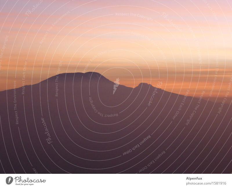 Killimanjaro Sonnenaufgang Sonnenuntergang Berge u. Gebirge Tansania Seven Summit Gipfel Vulkan Afrika Stimmung Optimismus geduldig ruhig träumen Abenteuer