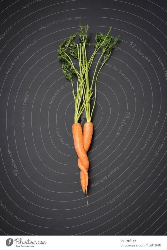 Karotten-Kuscheln Lebensmittel Gemüse Salat Salatbeilage Ernährung Essen Frühstück Abendessen Bioprodukte Vegetarische Ernährung Diät Gesundheit