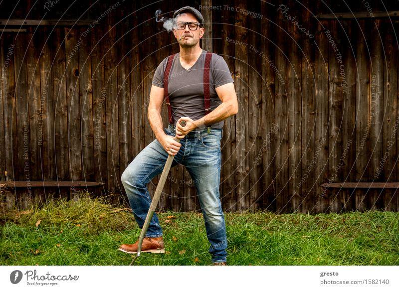 Men at Work Mensch Natur Mann Landschaft Erwachsene Umwelt Garten Arbeit & Erwerbstätigkeit maskulin Häusliches Leben ästhetisch Schuhe Brille Landwirtschaft