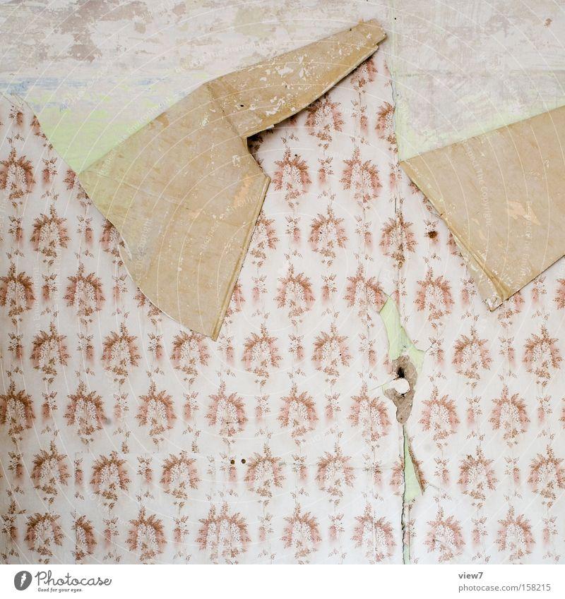 Rückseite Umzug (Wohnungswechsel) Innenarchitektur Dekoration & Verzierung Tapete Papier alt Aggression authentisch Klischee braun Langeweile Sehnsucht