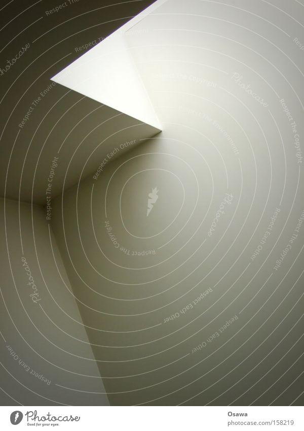 Ixelkollektion weiß Fenster grau Raum Architektur Ecke einfach Monochrom Licht Oberlicht