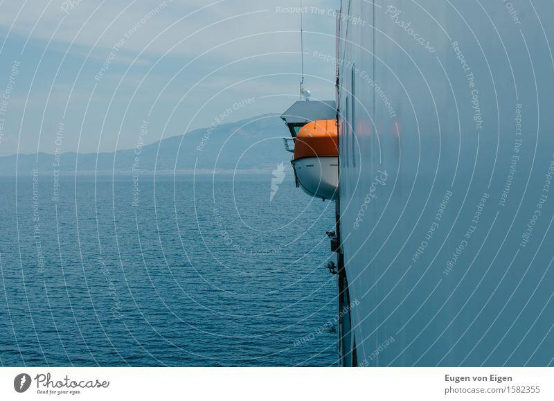 Adria Überfahrt – Land in Sicht ruhig Ferien & Urlaub & Reisen Tourismus Ferne Freiheit Kreuzfahrt Sommer Insel Italien Europa Schifffahrt Binnenschifffahrt