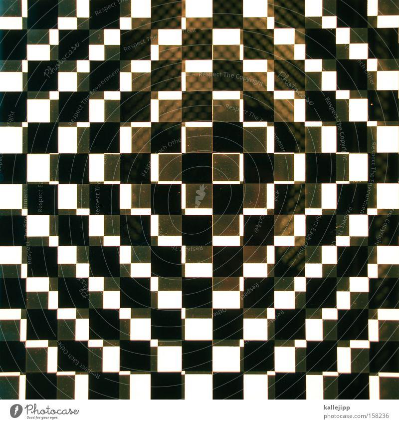 moiré olé Quadrat schwarz Muster Moiré-Effekt weiß Verschiebung Kunst Schwarzweißfoto optische täuschung op art Pop-Art Irritation