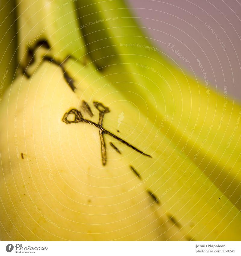 """""""looos Banane!"""" Farbe Linie Werkzeug Frucht Küche lecker Hecke Schere Haarschnitt Anleitung Haare & Frisuren"""