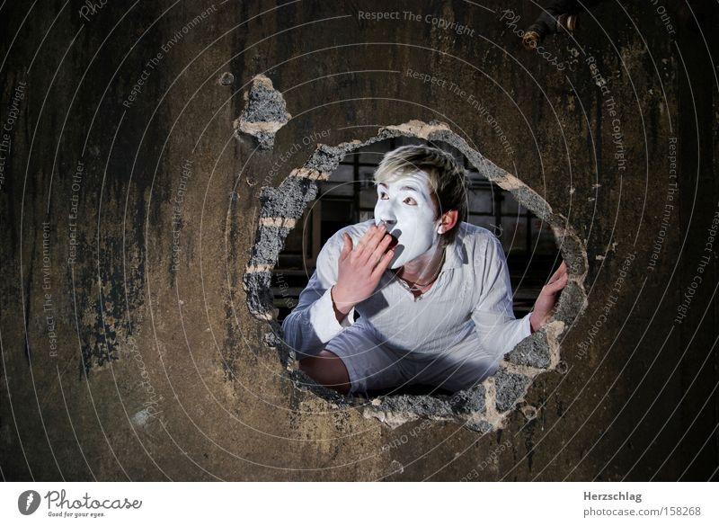 OH MEIN GOTT weiß Freude Mauer Angst groß frisch neu rein Konzentration Loch Panik Überraschung Gott staunen Pantomime