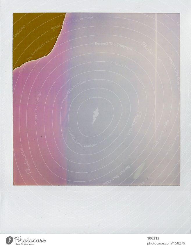 Fotonummer 112830 blau alt Farbe Gefühle Kunst Polaroid Stimmung rosa leer Warmherzigkeit Streifen Coolness Teile u. Stücke verstecken Riss gestreift