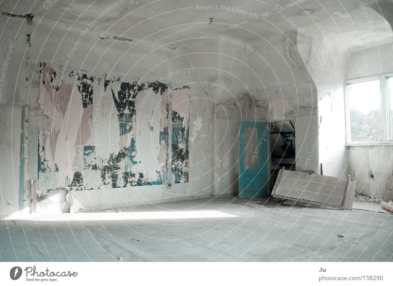Das Gemälde Einsamkeit Architektur verfallen Gemälde Wohnzimmer Ruine Kunstwerk Leerstand Fetzen verschütten Bauruine