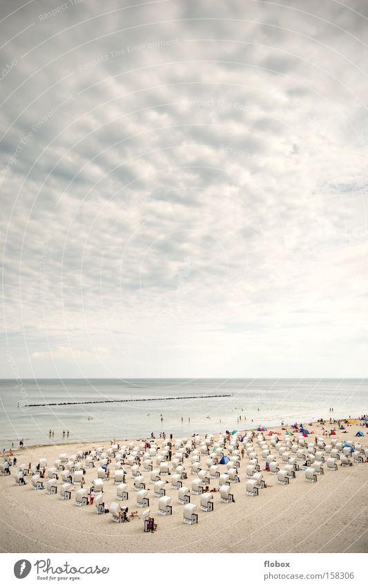 Spiel, Spass, Spannung Himmel Ferien & Urlaub & Reisen Meer Strand Sand Küste groß Insel Tourismus Nordsee Ostsee Strandkorb Rügen