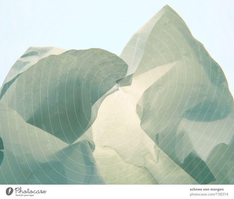 Eisberg, kurz vor Grönland Natur weiß blau Winter kalt Schnee Berge u. Gebirge Landschaft Horizont Papier türkis Skandinavien zyan