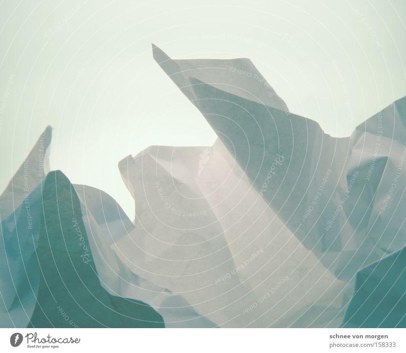 Eisige Landschaft kalt Eisberg Grönland Natur Schnee Horizont Berge u. Gebirge Winter Papier weiß blau zyan Meer Eisblock