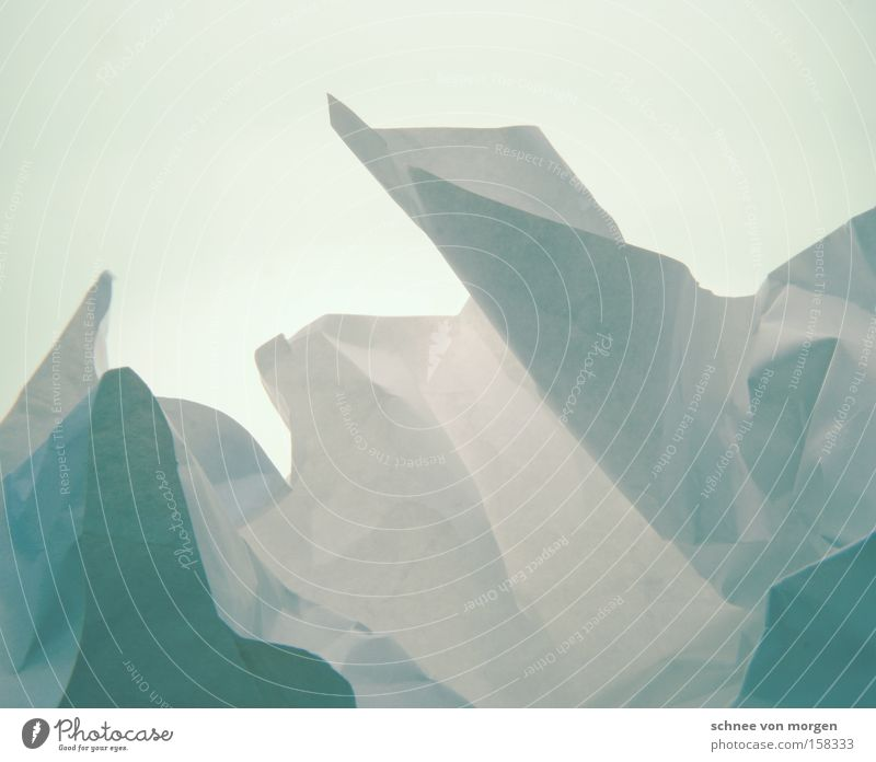 Eisige Landschaft Natur weiß Meer blau Winter kalt Schnee Berge u. Gebirge Skandinavien Horizont Papier zyan Eisberg Grönland