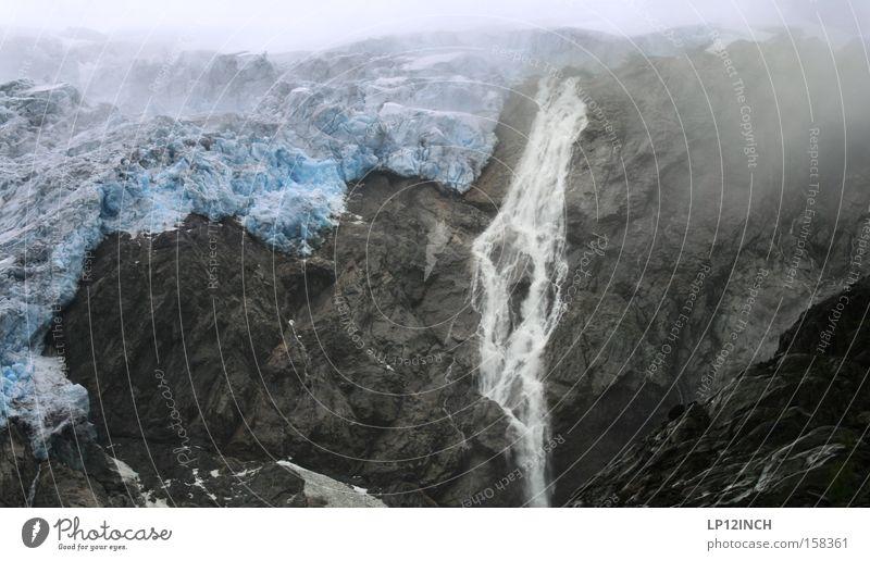 Gletscher Stylez....film ab Farbfoto Strukturen & Formen Berge u. Gebirge wandern Urelemente Wasser Sommer Klimawandel Nebel Eis Frost Stein bedrohlich
