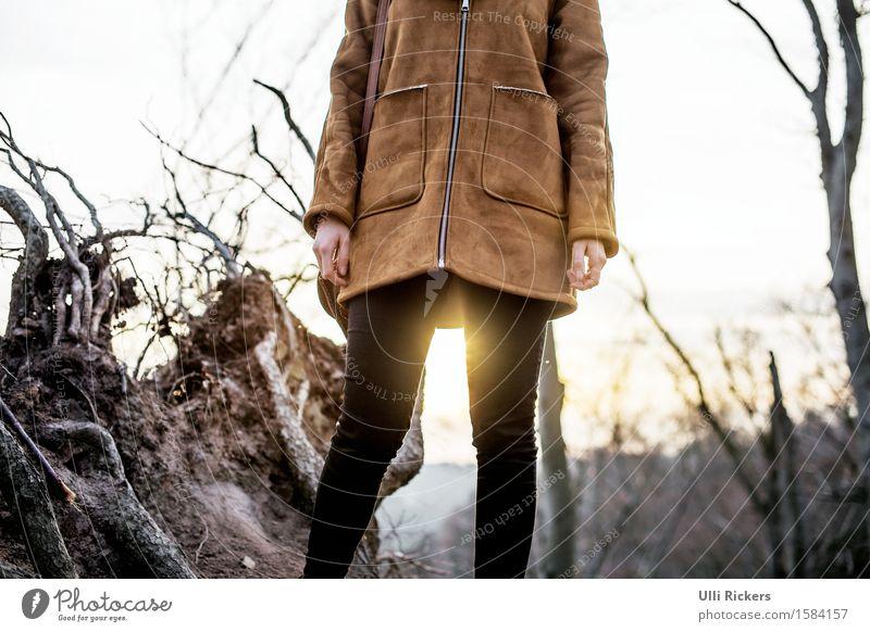 durchblick Körper Ausflug Abenteuer Ferne Freiheit Sonne wandern feminin Junge Frau Jugendliche 1 Mensch 18-30 Jahre Erwachsene Natur Landschaft