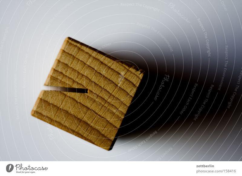 Holz Dinge Quadrat Würfel Maserung Klotz Schlitz