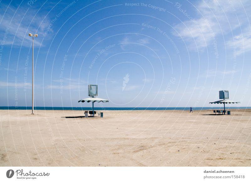 Traumstrand3 Strand Himmel Horizont blau weiß Surrealismus Meer Wasser Ferien & Urlaub & Reisen Reisefotografie verfallen Küste
