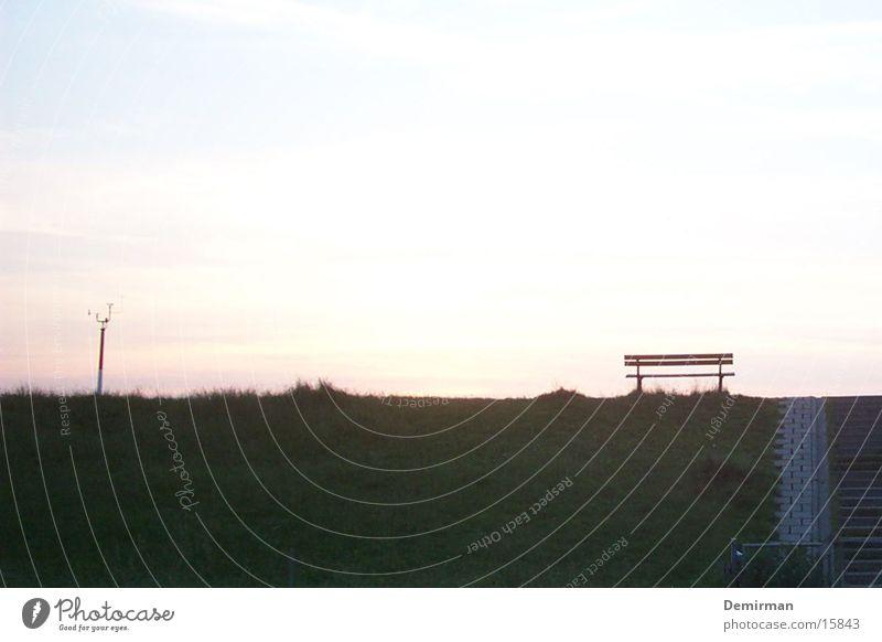 lonely Himmel Sommer Einsamkeit Wolken Bank Farbenspiel