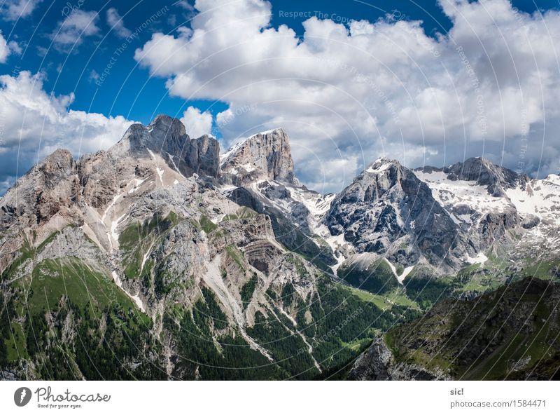 Dolomiten Ferien & Urlaub & Reisen Tourismus Ausflug Abenteuer Ferne Sommerurlaub Berge u. Gebirge wandern Klettern Bergsteigen Umwelt Natur Landschaft Himmel