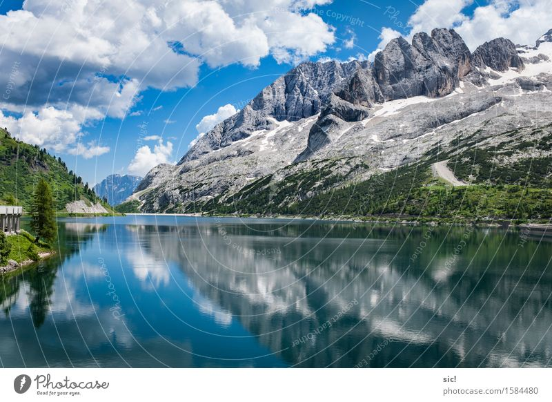 Lago di Fedaia Ferien & Urlaub & Reisen Tourismus Ausflug Abenteuer Sommer Berge u. Gebirge wandern Wassersport Klettern Bergsteigen Schwimmen & Baden Umwelt
