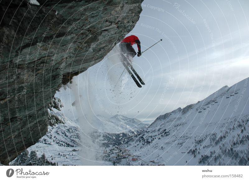 Toni Sailer Skifahren Skier Schnee Schneefall Berge u. Gebirge Felsen Sport Winter springen Österreich Salzburg Bundesland Salzburg fliegen Free-Ski extrem