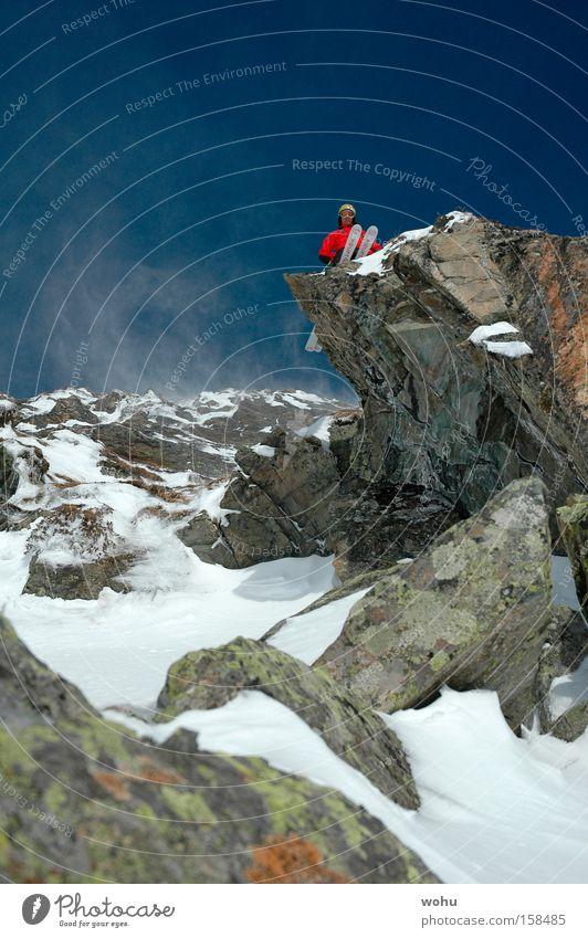 The Eagle Has Landed Schnee Skifahren Skier Winter Sport Berge u. Gebirge Felsen Tiefschnee Free-Ski springen Österreich Salzburg Bundesland Salzburg