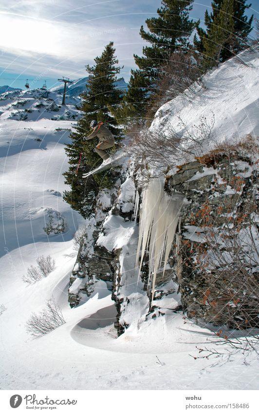 Franz Klammer Sport Schnee springen Berge u. Gebirge Skifahren Österreich Wasserfall extrem Blauer Himmel Wintersport Salzburg Tiefschnee Bundesland Salzburg Free-Ski
