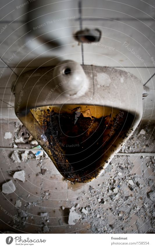 missverständnis Geruch Toilette dreckig Ekel Pissoir Sauberkeit Körperpflegeutensilien Verfall Staub falsch verfallen Bad obskur Körperpflegeuntensilien