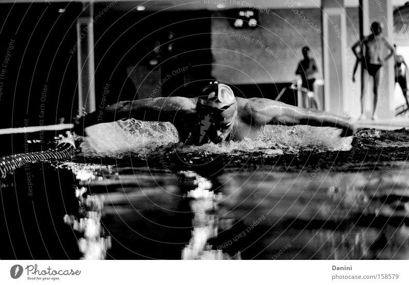 be brave Mann Sport Kraft Gesundheit Schwimmbad Fitness