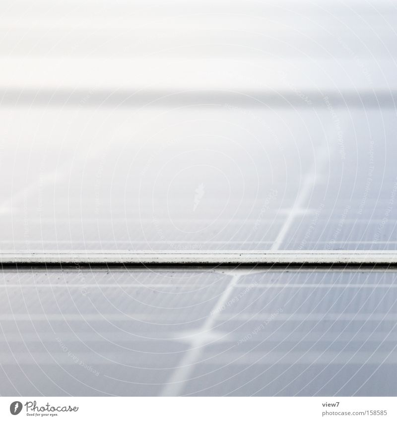 Randbereich Sonnenenergie Elektrizität ökologisch Zukunft Detailaufnahme Solarzelle Verbindung Dünnschicht Anschluss Einflussbereich Makroaufnahme Nahaufnahme