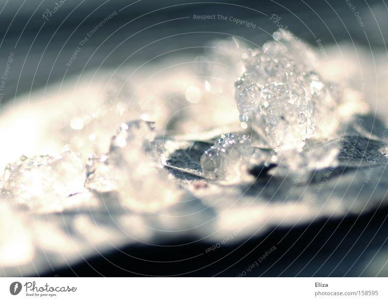 vergänglich Natur Blatt Winter Schnee Eis Trauer Vergänglichkeit Verzweiflung Kristallstrukturen Kristalle Mineralien schmelzen