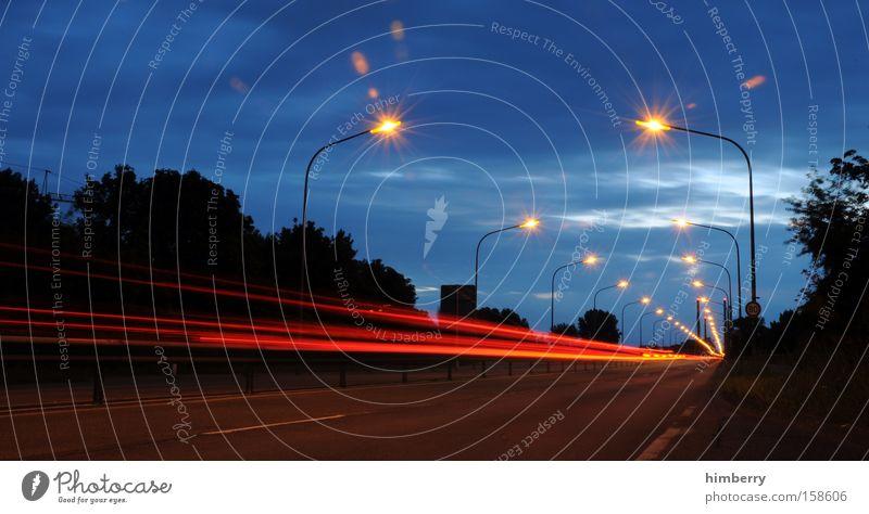 speed of life Straße Beleuchtung Verkehr Geschwindigkeit Brücke fahren Güterverkehr & Logistik Autobahn Rennsport Straßenbeleuchtung Motorsport
