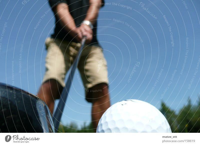 Abschlag Sommer Sport Spielen Holz Freizeit & Hobby Tee Golf Mensch Eisen Behinderte Golfplatz Ballsport Golfball