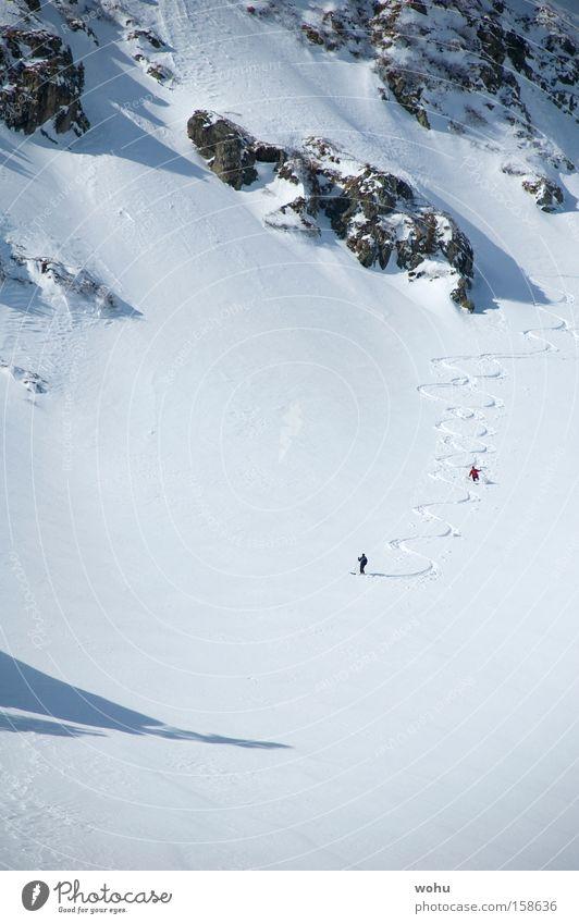 Toni & Toni Schnee Berge u. Gebirge Skifahren Spuren Skier Österreich Wintersport Tiefschnee Pulverschnee Bundesland Steiermark Free-Ski