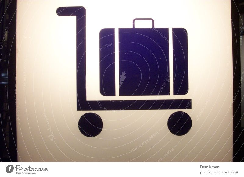 gepäck halt Sommer Ferien & Urlaub & Reisen Beleuchtung warten Schilder & Markierungen Freizeit & Hobby Dinge Zeichen Flughafen Koffer tragen schwer Gepäck