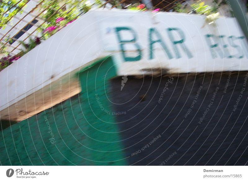 bar restaurante Wand Geschwindigkeit Schriftzeichen Bar Freizeit & Hobby Restaurant Spanien Typographie