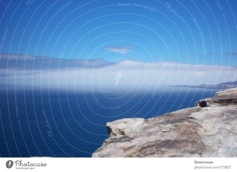 wunderbar schön Ferien & Urlaub & Reisen Spanien Gran Canaria Wasser blau Himmel Stein Felsen
